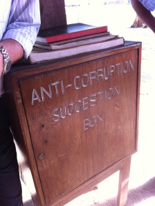 Ik kon het niet nalaten om een Keniaas bankbiljet in deze box te posten...